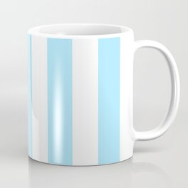 Fresh Air heavenly -  solid color - white vertical lines pattern Coffee Mug