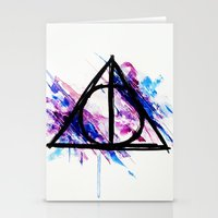 deathly hallows Stationery Cards featuring Deathly Hallows by Sterekism