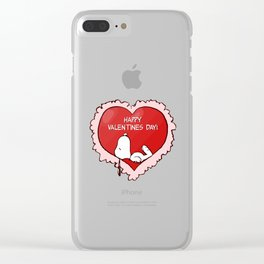 Snoopy Valentines Day Clear iPhone Case