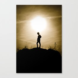 King of the Sunset Hill Canvas Print