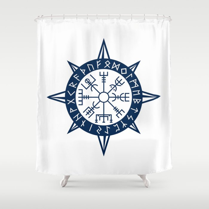 Vegvisir Viking Compass Shower Curtain