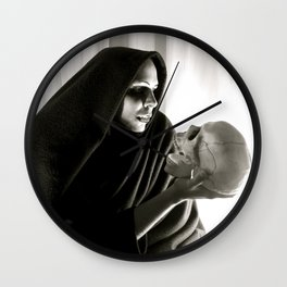 Character Portrait 'The Mysterious Dark Sorcerer'... Wall Clock