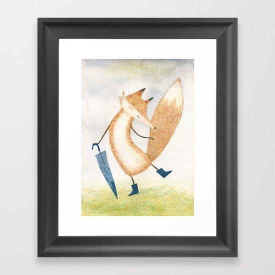It stopped raining, Mr Fox Framed Art Print