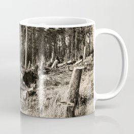 Fallen And Broken Trees After Storm Victoria February 2020 Möhne Forest 9 sepia Coffee Mug