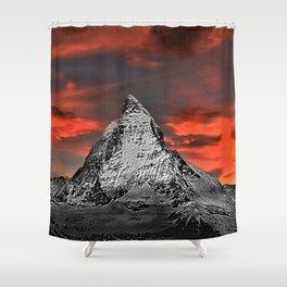 Matterhorn of Zermatt, Switzerland at sunset Shower Curtain