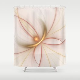 Nobly In Gold And Copper, Fractal Art Shower Curtain