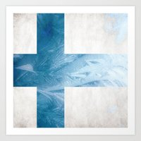 finland Art Prints featuring Finland by Fernando Vieira