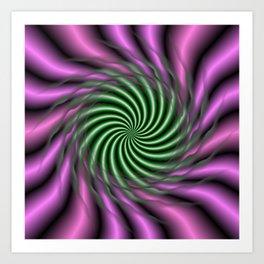 Psychedelic Swirl Art Print