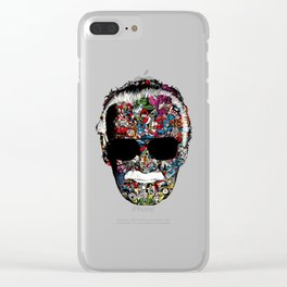 Stan Lee - Man of many faces Clear iPhone Case