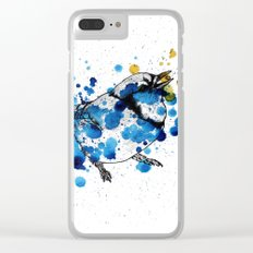 Splattered Blue jay Clear iPhone Case