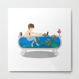 Child's sea adventure Metal Print