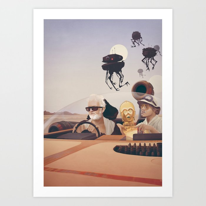 Fear and Loathing on Tatooine Art Print
