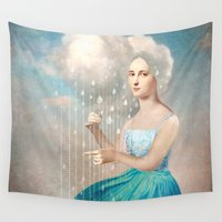 rain Wall Tapestries featuring Melody of Rain by Christian Schloe