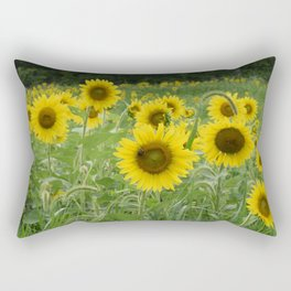 Beeutiful sunflowers Rectangular Pillow