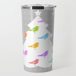 Birds and Christmas Tree Travel Mug