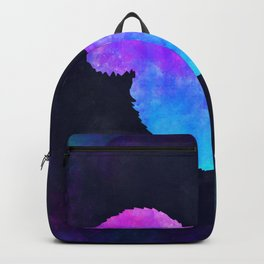 SQUIRREL IN SPACE // Animal Graphic Art // Watercolor Canvas Painting // Modern Minimal Cute Backpack