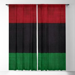 UNIA flag, Afro-American flag, Black Liberation flag Motif Blackout Curtain