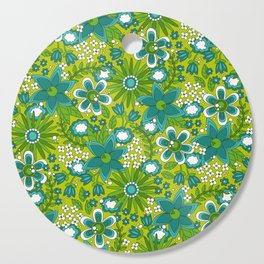 Peace, Love and Flowers Cutting Board