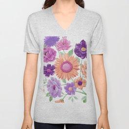Blooms Blooms Blooms Unisex V-Neck