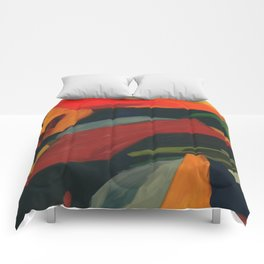 Lessons To Learn Abstract Landscape Comforters