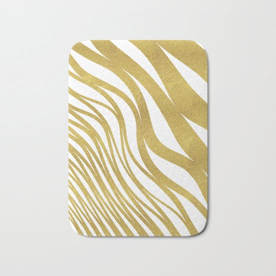 Golden Wave #society6 #decor #buyart Bath Mat