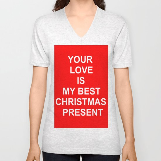 Christmas Red Unisex V-Neck