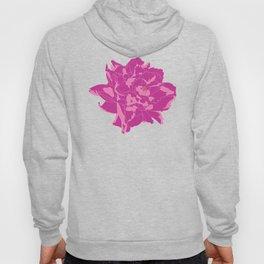Magenta Pink Peony Floral Print Hoody