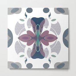 Mauve Decorative Ornament Design Metal Print