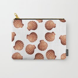 White big Clam pattern Illustration design Carry-All Pouch