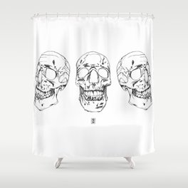 Three Skulls Shower Curtain