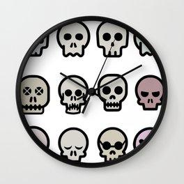 Skull Emojis Wall Clock