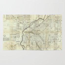 Vintage Map of Denver CO (1879) Rug