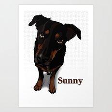Sunny (white) Art Print