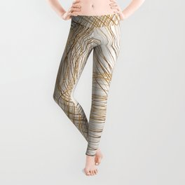 Metallic Circle Pattern Leggings