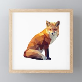 Geometric fox Framed Mini Art Print