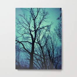 Blue Winter Trees Metal Print