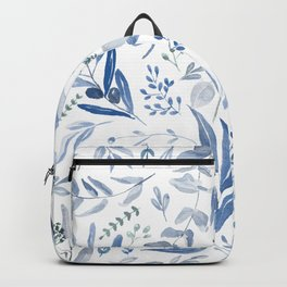 Eucalyptus Pattern - Blue Backpack