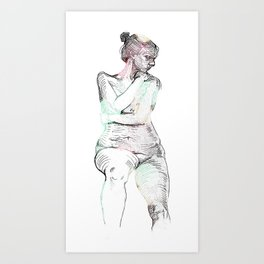 Liberate Yourself - Figure Study Art Print