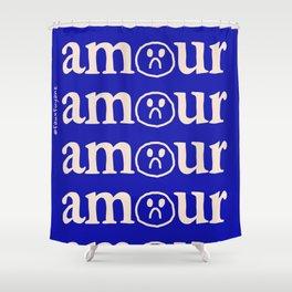 l'amour en bleu Shower Curtain