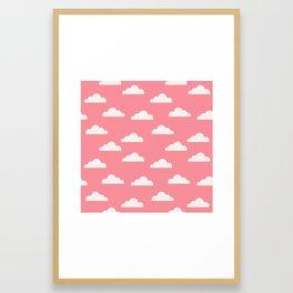 Clouds Pink Framed Art Print