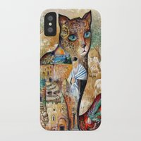 israel iPhone & iPod Cases featuring Cat of Israel by oxana zaika