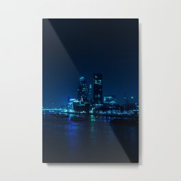 The Blue City Night (Color) Metal Print