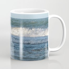 Splashing ocean waves in Queensland, Australia Coffee Mug
