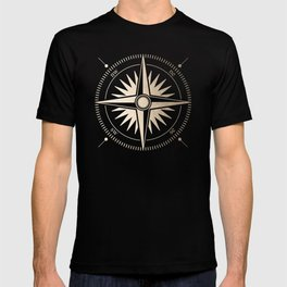Gold on White Compass T-shirt