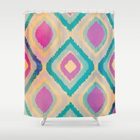 ikat Shower Curtains featuring URBAN IKAT by Nika