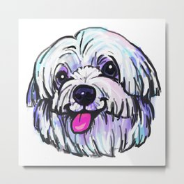 The happy MALTESE Love of My Life Metal Print
