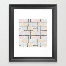 Tile pattern in soft pastel tones Framed Art Print