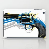 gun iPad Cases featuring gun by mark ashkenazi
