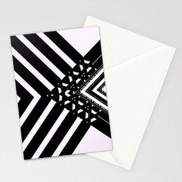 Modern Minimal Black White V Patten Stationery Cards