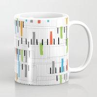 piano Mugs featuring piano by mondebettina